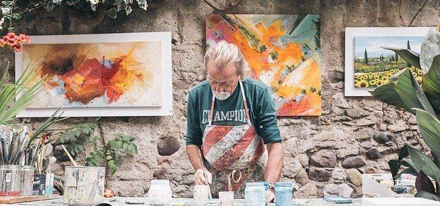 maler mit viel kreativität